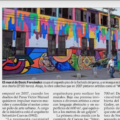 Otro mural conquista la fachada del Persa Víctor Manuel
