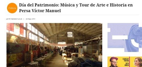 Día del Patrimonio: Música y Tour de Arte e Historia en Persa Víctor Manuel