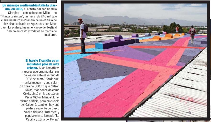 Nota El Mercurio sobre Mural Borde Sur